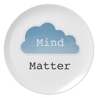 Mind Over Matter Party Plate