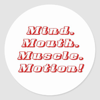 Mind over Matter Classic Round Sticker