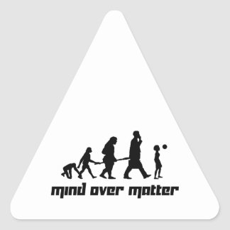 Mind over Matter Triangle Sticker