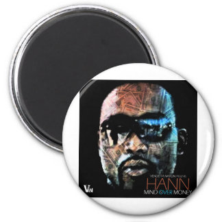 MIND OVER MONEY FACE 2 INCH ROUND MAGNET