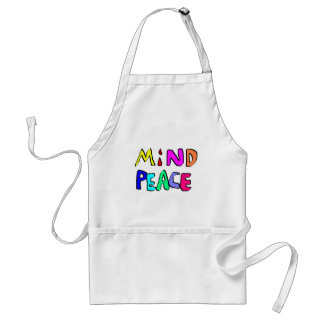 mind peace #2 adult apron