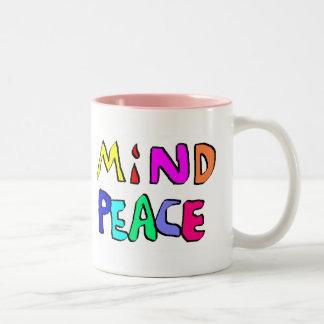 mind peace #2 Two-Tone coffee mug