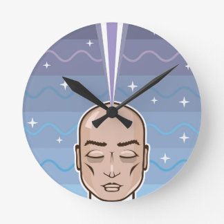 Mind power Astral connection Round Clock