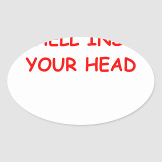 mind oval sticker
