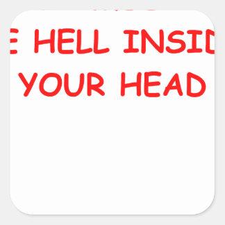 mind square stickers
