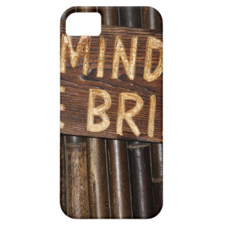 Mind the Bridge wooden sign iPhone 5 Covers