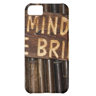 Mind the Bridge wooden sign iPhone 5C Case