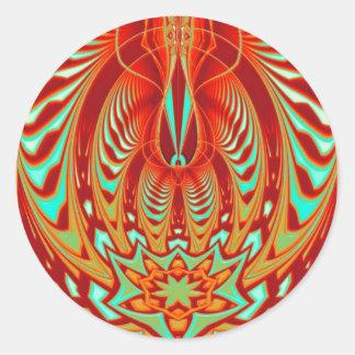 mind trance classic round sticker