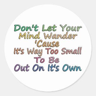 Mind Wander Classic Round Sticker