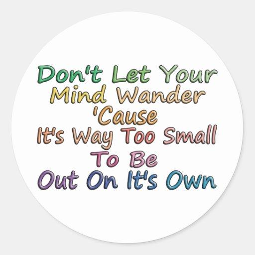 Mind Wander Sticker