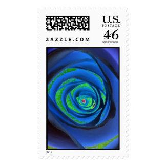 Mind Warp In Blue Postage Stamps