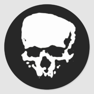 Mind Wither Day signature skull Classic Round Sticker