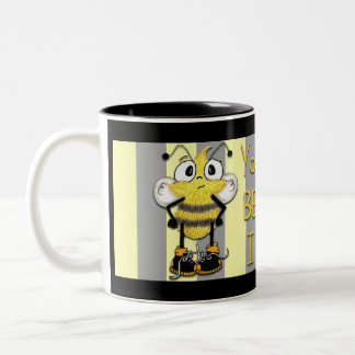 Mind Your BEEsness! Two-Tone Coffee Mug