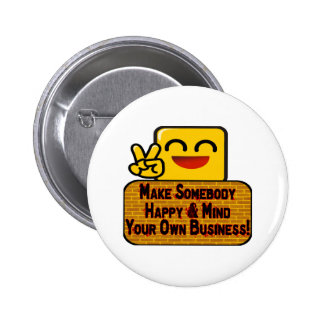 Mind Your Business 2 Inch Round Button
