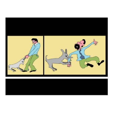 Professional Business Mind Your Business-Dog Reaction To Treatment Postcard