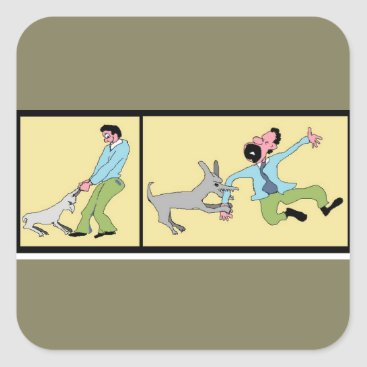Professional Business Mind Your Business-Dog Reaction To Treatment Square Sticker