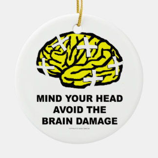 Mind your head christmas tree ornament