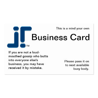 Mind Your Own Double-Sided Standard Business Cards (Pack Of 100)