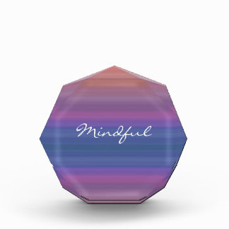 Mindful - Choose your own WORD for the year! Acrylic Award