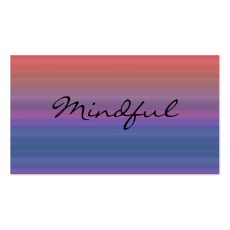 Mindful - Choose your own WORD for the year! Business Card