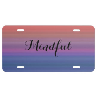 Mindful - Choose your own WORD for the year! License Plate