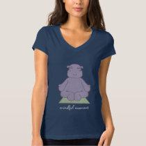 Mindful Moment Hippo Ladies Dark T-Shirt