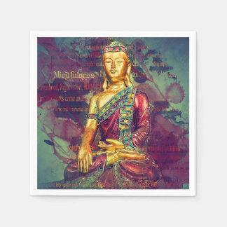 Mindfulness Buda Servilleta De Papel