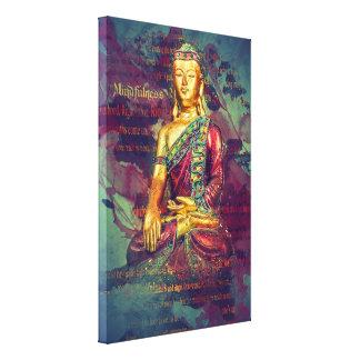 Mindfulness Buddha Canvas Print