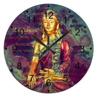 Mindfulness Buddha Wall Clock