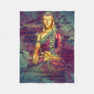Mindfulness Buddha Fleece Blanket