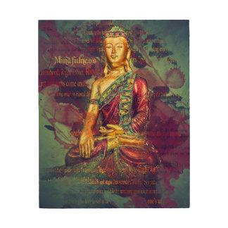Mindfulness Buddha Wood Print