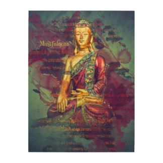 Mindfulness Buddha Wood Wall Art