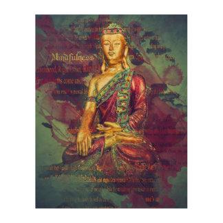 Mindfulness Buddha Wood Wall Decor
