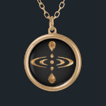 """Mindfulness Gold Plated Necklace<br><div class=""""desc"""">Mindfulness is the intentional, accepting and non-judgemental focus of one&#39;s attention on the emotions, thoughts and sensations occurring in the present moment. This Mindfulness symbol is an """"open source"""" symbol that can be used by anyone in order to spread the message. This symbol is presented like a physical representation of...</div>"""