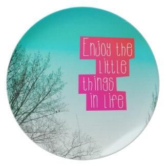 Mindfulness home kitchen present plate