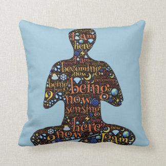 Mindfulness Meditation Throw Pillow