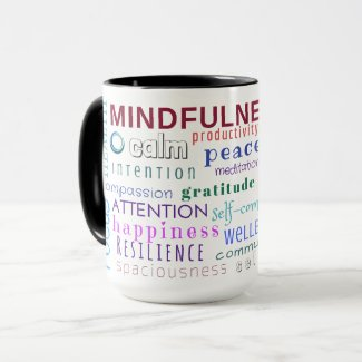 Mindfulness Word Jumble Mug