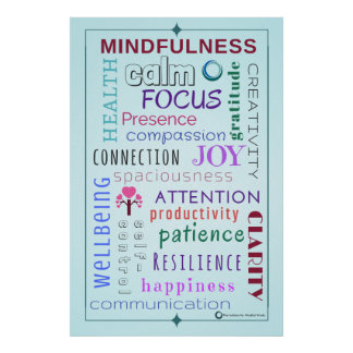 Mindfulness Word Jumble Poster