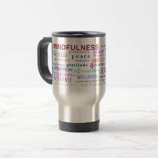 Mindfulness Word Jumble Travel Mug