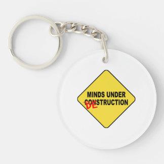 Minds Under Destruction Double-Sided Round Acrylic Keychain