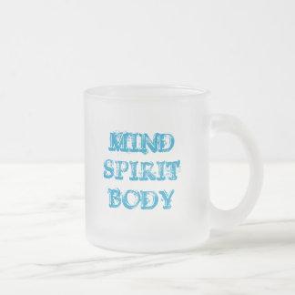 MINDSPIRITBODY, MINDSPIRITBODY FROSTED GLASS COFFEE MUG