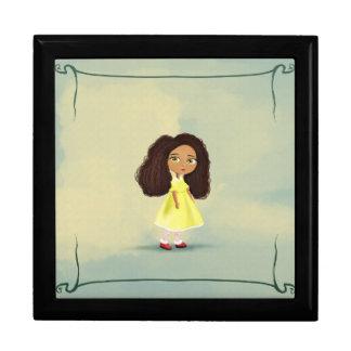 Mindy girl with the yellow dress keepsake box