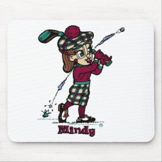Mindy Golfer Mouse Pad