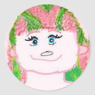 Mindy Peppermint Classic Round Sticker