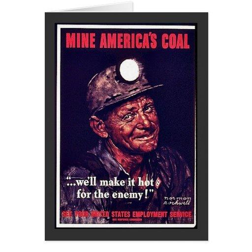 Mine America's Coal Greeting Card