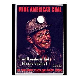 Mine America's Coal Postcard