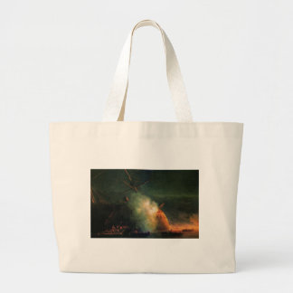 Mine attack by Ivan Aivazovsky Jumbo Tote Bag