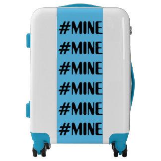 #MINE BLUE & WHITE Carryon Luggage