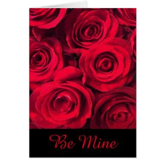 Mine Forever Red Roses Valentine Card