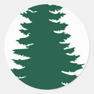 Mine Green Pine Classic Round Sticker